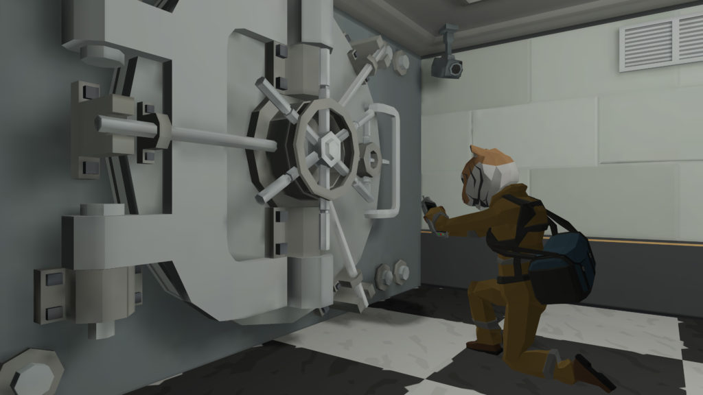 [Image: Technician opening the vault]