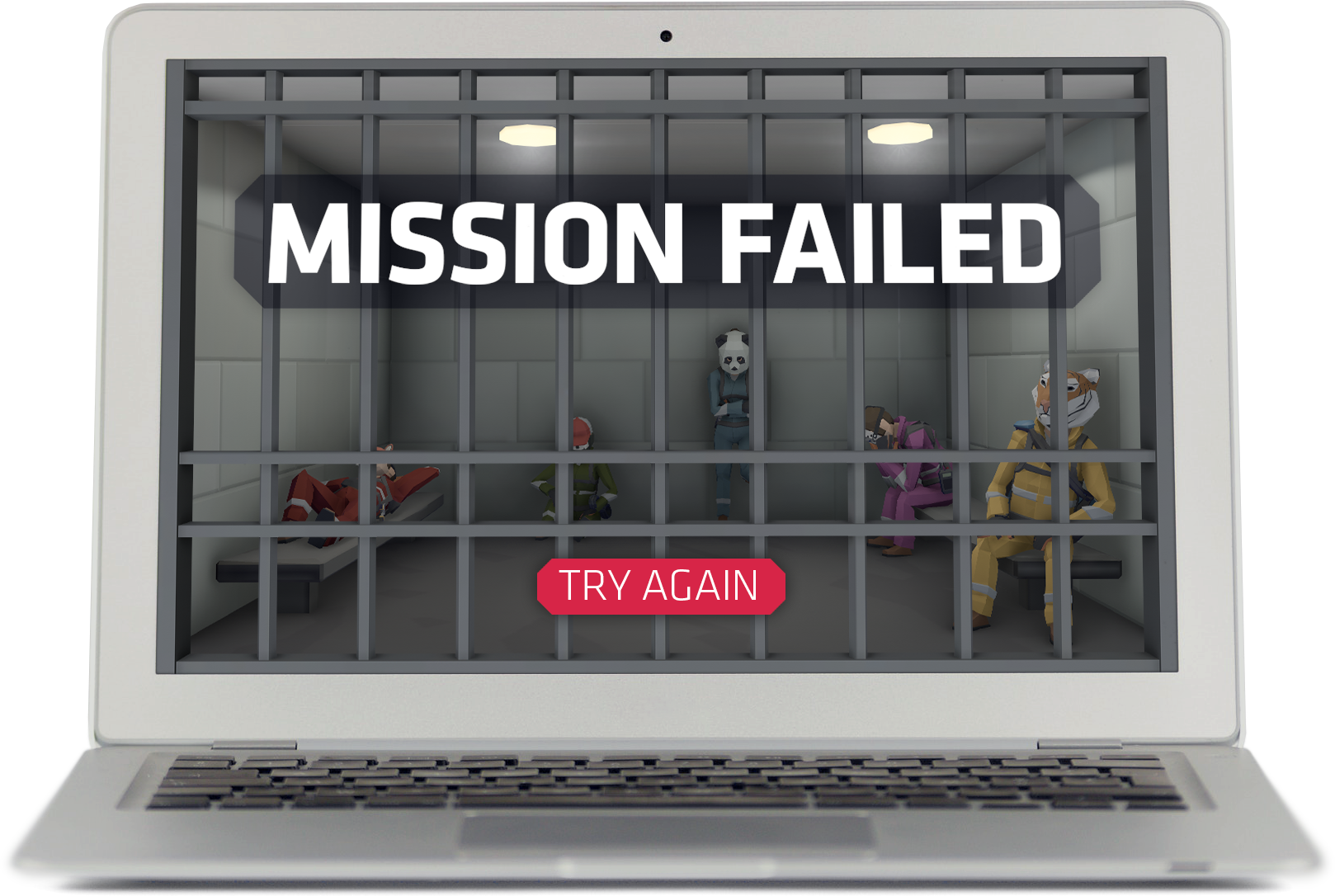 [Image: MISSION FAILED / Try Again]